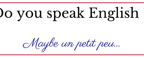 Do you speak English _
